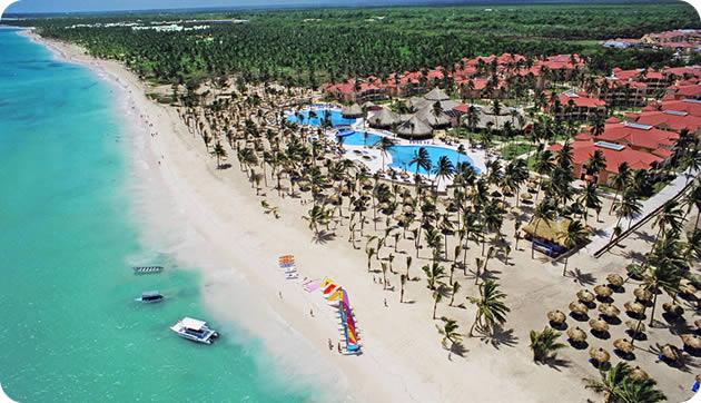 Vista aérea de playa Bayahibe
