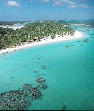 Vista aérea de la isla Saona