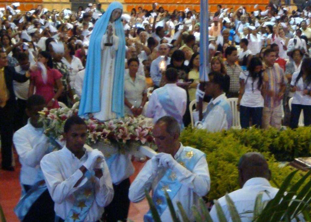 Procesión de la Virgen del Pozo en Semana Santa Santo Domingo.