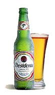 Cerveza Presidente de Santo Domingo.