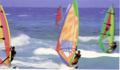 Deportes Acuaticos en Santo Domingo: Windsurf.